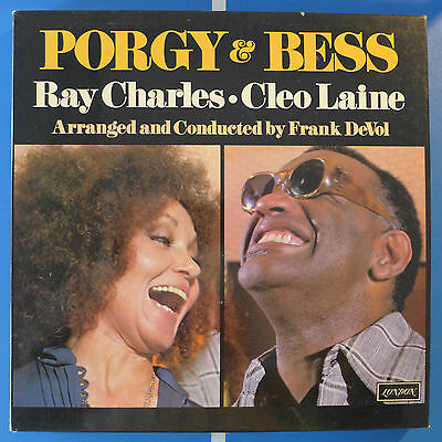 PORGY & BESS Ray Charles Cleo Laine London D31D2 UK 1976 OIS bookle VG++/Mint-