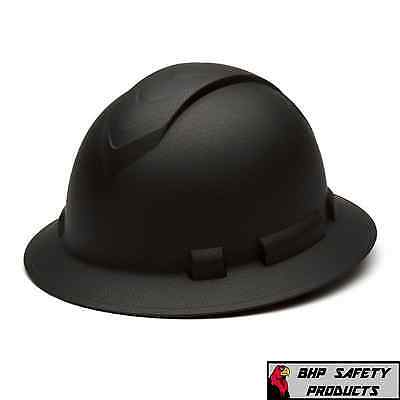 Pyramex Ridgeline Hard Hat Graphite Pattern Black Gray Full Brim Safety Hp54117