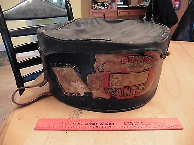 VINTAGE 1930s TRAVEL HAT BOX Antique Steamship Canadian pacific Eastern Airlines