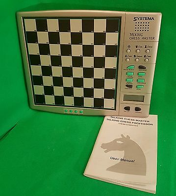 SYSTEMA TALKING CHESS MASTER COMPUTER ELECTRONIC - Board and Manual  (m2)