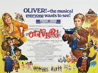 """Oliver 1968 16"""" x 12"""" Reproduction Movie Poster Photograph"""