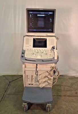 Toshiba Xario XG Ultrasound System w/ 3 Transducer Linear Endovaginal PLT-1204AT