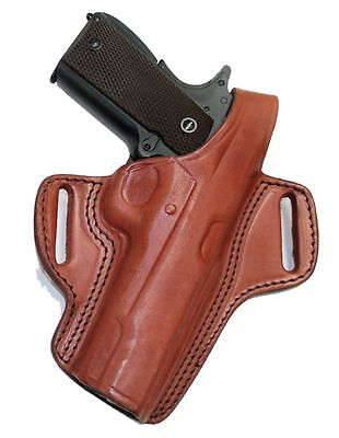 "Colt 1911 Pistol & Clones OWB Holster 5"" Barrel Brown Leather Thumb Break Right"