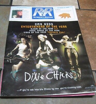Radio & Records Newspaper Oct 13, 2000 Dixie Chicks - Fly - Goodbye Earl
