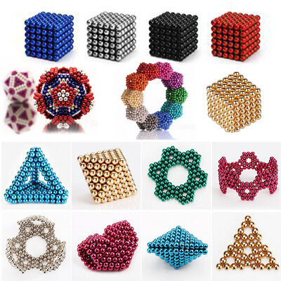 5mm 216pcs Magnet Balls Magic Beads 3D Puzzle Ball Sphere Magnetic Kids Toy Gift