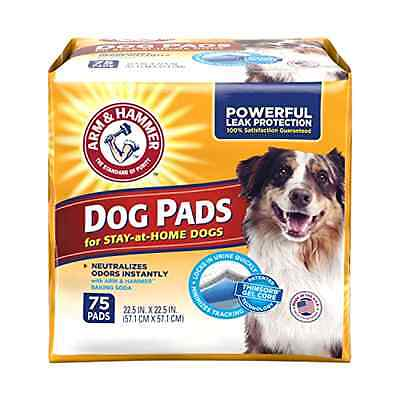 Arm Hammer Dog Pads Adult Dogs Training Pads Pet Supplies Odor Eliminator 75Pack