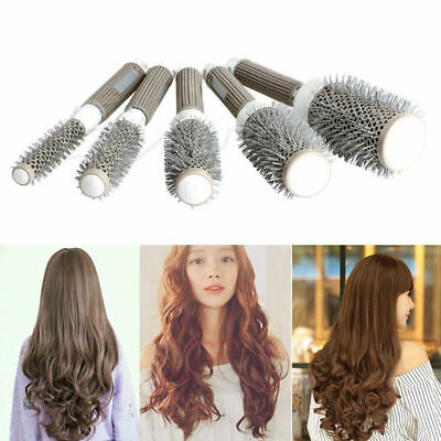 Hair Brush Ceramic Iron Round Comb Barber Dressing Salon Styling
