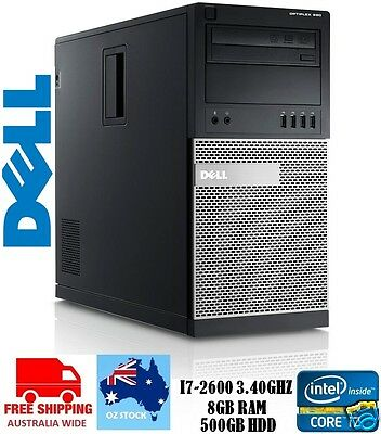 *LIMITED STOCK* Dell Optiplex 990 MT- Intel Core i7 2nd Gen, 8GB RAM, 500GB HDD
