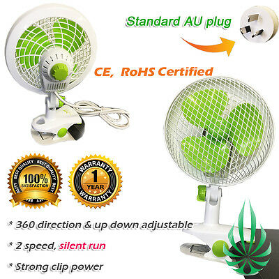 160mm Clip Fan 2 Speed Student Fan Grow Tent Vent Fan High Quality Quiet Run