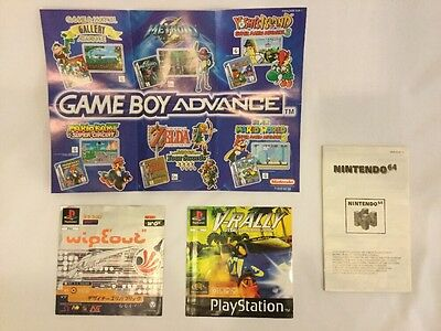 Collectors' Manuals And Inserts, Wipeout V-Rally (PS1), Game Boy, N64 [Mateo's]