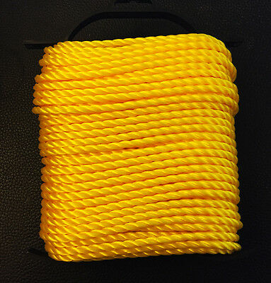 Twisted Rope Polyppropylene 1/4 in. x 100 ft. Strong & Lightweight Heavy Duty
