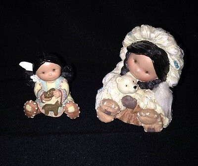 """Friends Of The Feather """"Gift Of A Warm Smile"""" PLUS  Mini 1 1/2"""" Tall Girl-Rare"""