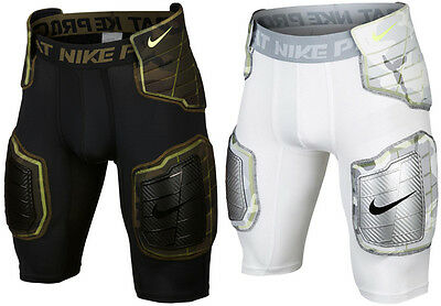 New Nike Pro Combat Hyperstrong Compression Hard-Plate 3/4 Football Shorts