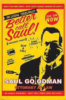 "BETTER CALL SAUL - BREAKING BAD - 91 x 61 cm 36"" x 24""  TV SERIES POSTER x"