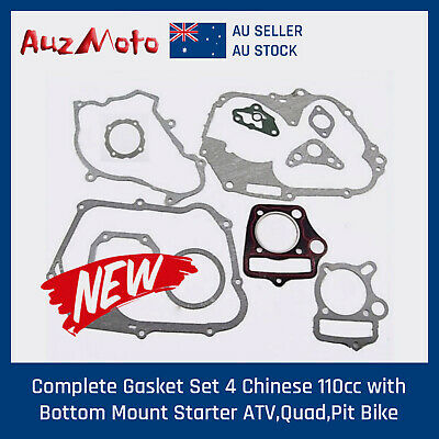 Complete Gasket Set 4 Chinese 110cc with Bottom Mount Starter ATV,Quad,Pit Bike