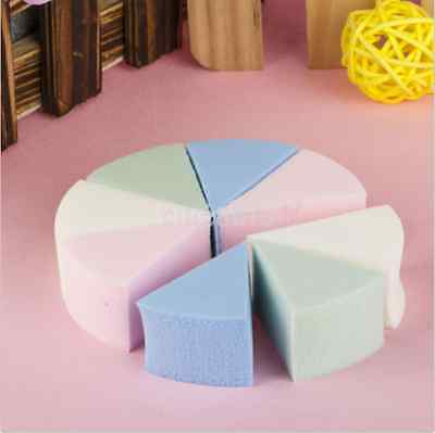 Hot Triangle Shaped Face Cleaning Pad Cosmetic Puff Cleansing Sponge  8pcs AU