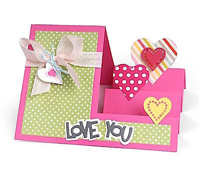 Sizzix Thin Framelits Die Set ~Heart Step Ups Card Code 560025 20Pk (Special)