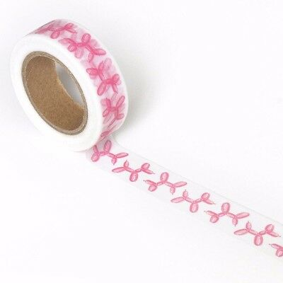 Washi Tape Balloon Dog Pink By Smarty Pants Paper Co 15Mm Wide X 10Mtr Roll Plan