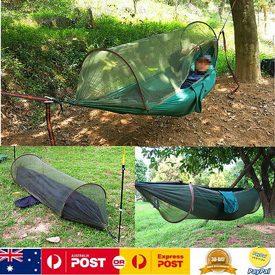 High Strength Hanging Tent Outdoor Hiking Camping Hammock Swing W/ Mosquito Net