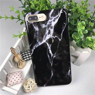 New Black Marble Pattern Soft Silicone TPU 5.5inch iPhone7 Plus Phone Case Cover