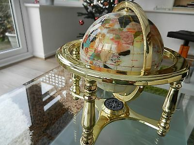 Great Christmas Gift Jewellery Gemstone Globe - Mother Of Pearl - 40+ Stones