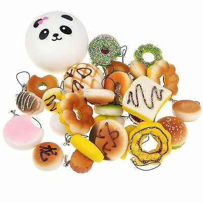 10/20/30PCS Jumbo Mini Squishy Panda/Toast/Bread/Buns Small Phone Strap Gift Toy