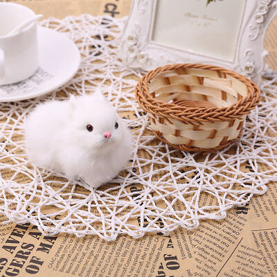 Plush Toy Mini Simulation Rabbit Hare Decor Kids Lovely Craft Birthday Gift