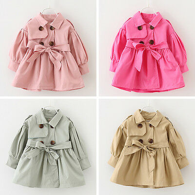 Baby Girl Toddler Kids Windbreaker Outerwear Coat Jacket Wrap Tops Outfit 1-4Y
