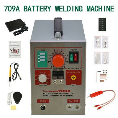 709A 60A 1.9kw Spot Welder Soldering Iron Staion Battery 2 in 1 Welding Machine