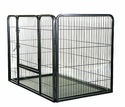 Large heavy duty 4 sided metal Puppy Dog Play Pen Run Whelping box playpen 40168