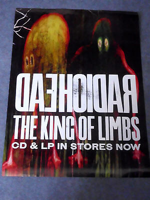 Radiohead -King Of Limbs- Rare Official Large Record Shop Promo Poster