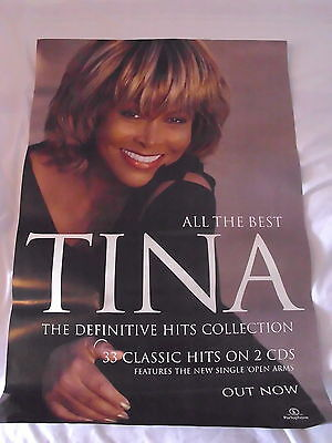Tina Turner  -All The Best- Rare Official Record Co. Promo Poster