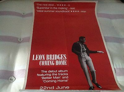 Leon Bridges -Coming Home- Rare Official Record Co. Promo Poster