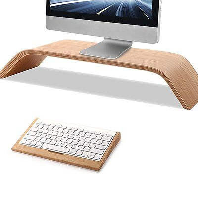 SamDi Bamboo Wood Monitor Screen Platform Shelf Riser Stand for Apple iMac New