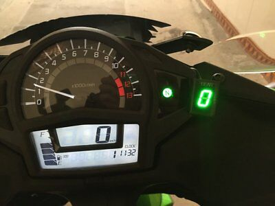 Motorcycle Gear Indicator Green LED for Yamaha YZF-R1 YZF-R6 Fzh150 Fzn150 Xt660