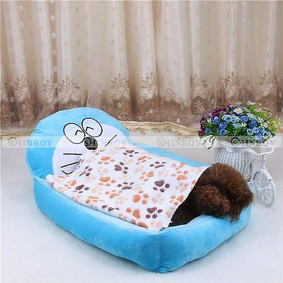 "Warm Pet Mat Small Paw Print Cat Dog Puppy Fleece Soft Bed 7.8x7.8"" / 23x15"""