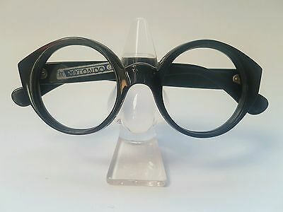 Vintage Antique Round Eyeglasses Frame Le Corbusier Style from 1960s Very Rare