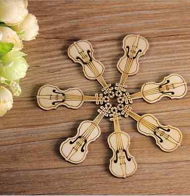 Wooden Home Decorations Scrapbooking violin Pendants Jewelry Accessories 55mm
