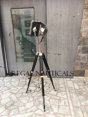Camera Floor Search Light With Tripod ,nautical Spot Studio Light With Tripod