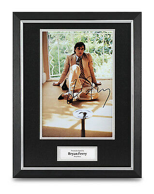 Bryan Ferry Signed Photo Framed 16x12 Roxy Music Autograph Memorabilia Display