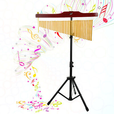 NEW 36-Tone Bar Chimes Single-row Wind Chime Percussion Instrument+ Tripod Stand
