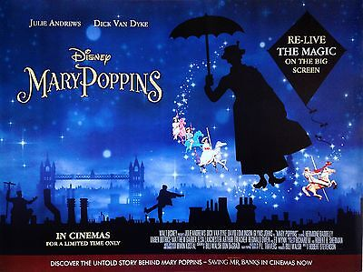 "Mary Poppins 16"" x 12"" Reproduction Movie Poster Photograph no 2"