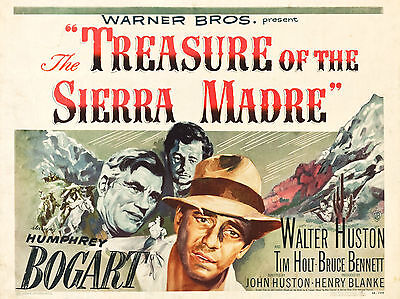 "The treasure of sierra madre 1948 16"" x 12"" Reproduction Movie Poster Photograph"