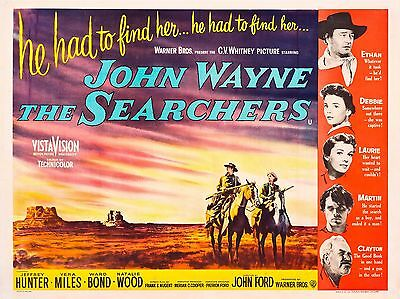 """The Searchers 16"""" x 12"""" Reproduction Movie Poster Photograph"""