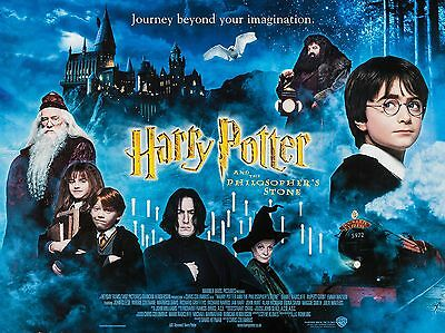 "Harry Potter Philosphers Stone 2001 16"" x 12"" Repro Movie Poster Photograph"