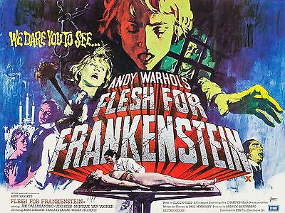 """Flesh for Frankenstein 16"""" x 12"""" Reproduction Movie Poster Photograph"""
