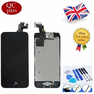 For iPhone 5C Black LCD Touch Screen Digitizer Display Full Assembly Replacement