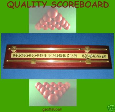 Pure Quality   !!! SNOOKER SCOREBOARD !!!  Solid Timber  April