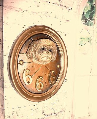 Lhasa Apso Dog Lg Arch Bronze Figurine Sign Bust Head K9 Arts  Wall Sculpture