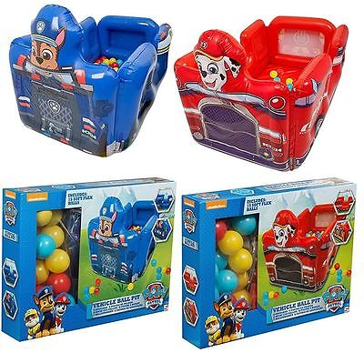 Paw Patrol Chase Marshall Inflatable Ball Pit Kids Playhouse Playland Tent Toy